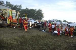 Tömegbaleset - Súlyos baleset történt Ócsa és Gyál közö